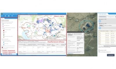 Development of Geographical Information System for Public Unit of Contract Areas Interactive Map.